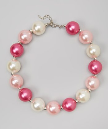 Pink & Ivory Chunky Necklace
