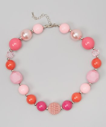 Pink & Orange Chunky Necklace