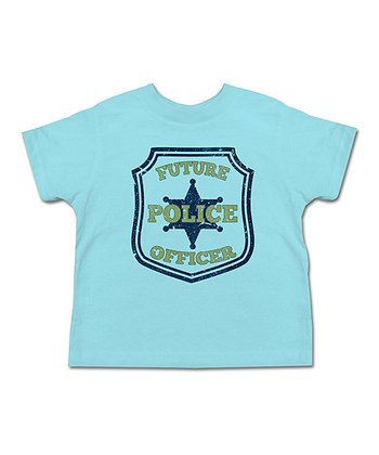 Aqua 'Future Police Officer' Tee - Toddler & Boys