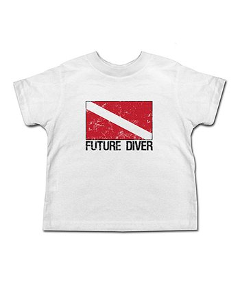 White 'Future Diver' Tee - Toddler & Kids