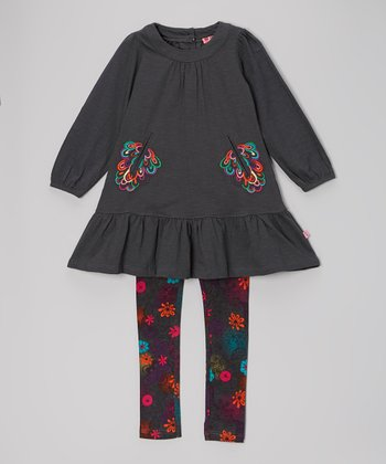 Midnight Adda Bam Dress & Leggings - Girls