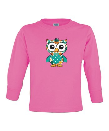 Raspberry Owl Tee - Toddler & Girls