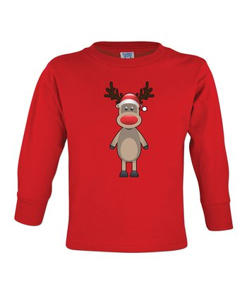 Red Rudolph Tee - Toddler & Boys