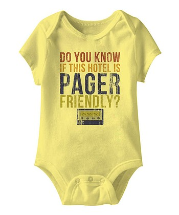 Banana 'Pager Friendly' Bodysuit - Infant