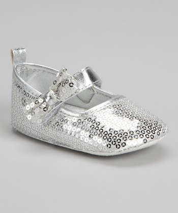 Laura Ashley Silver Sequin Mary Jane