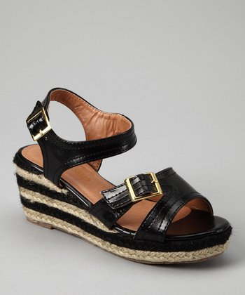 Black Stripe Espadrille