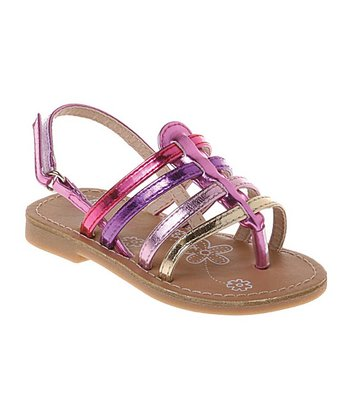 Pink & Purple Metallic Gladiator Sandal