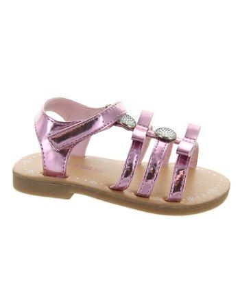 Pink Metallic Gladiator Sandal