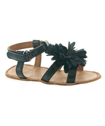 Black Flower Sandal