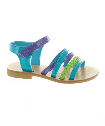Lime Green & Blue Sandal