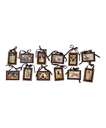 Halloween Pinking Postcard Ornament Set
