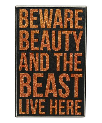'Beauty & Beast' Box Sign