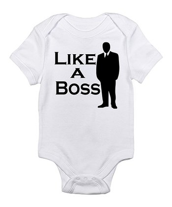 White 'Like a Boss' Bodysuit - Infant