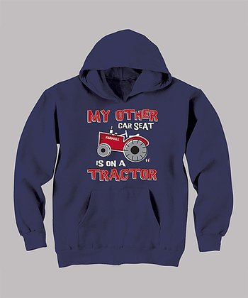 Navy 'My Other Car Seat' Hoodie - Toddler & Kids
