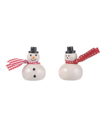 Short Snowman Salt & Pepper Shakers