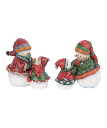 Bundle Up Snowman Figurine Set