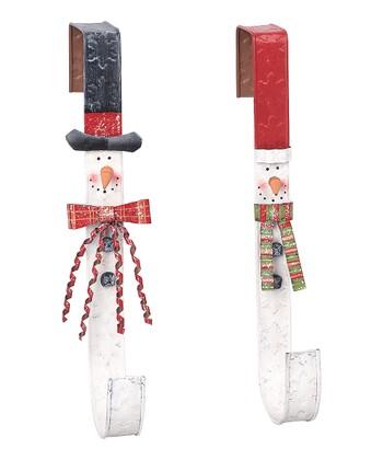 Snowman Wreath-Holder Set