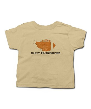 Khaki Footurkey Tee - Toddler & Kids