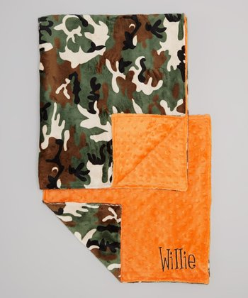 Camo Personalized Blanket & Lovie Set