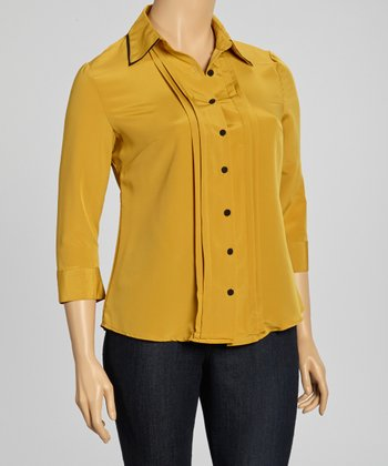Maple Contrast Collar Top - Plus