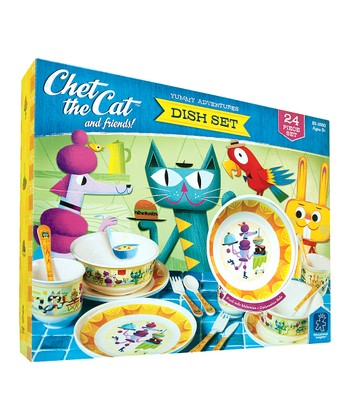 Chet the Cat & Friends Pretend Play Dish Set