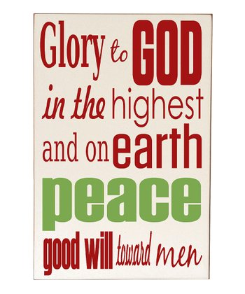 Cream & Red 'Glory to God' Wall Art
