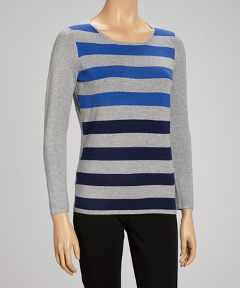Heather Gray Stripe Sweater