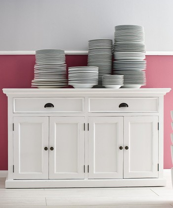 White Basic Kitchen Buffet