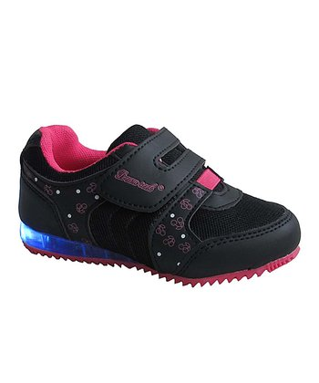 Black & Fuchsia Cherry Light-Up Sneaker