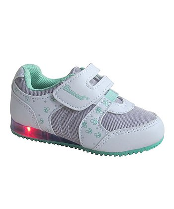 White & Mint Cherry Light-Up Sneaker