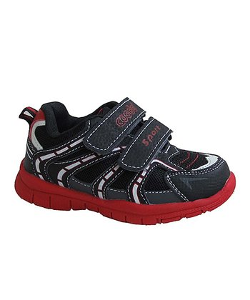 Black & Red Running Shoe