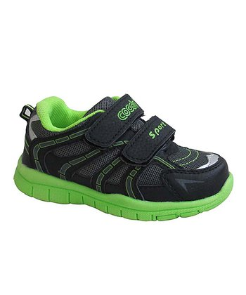 Black & Lime Running Shoe