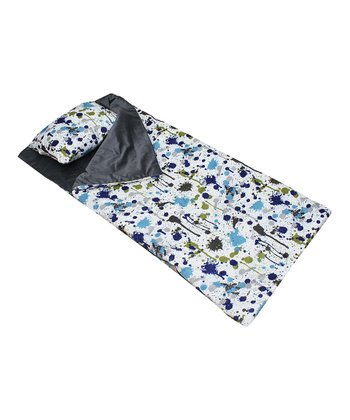 Splatter Paint Sleeping Bag & Pillow