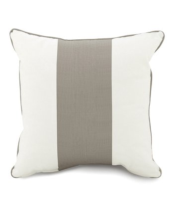 Taupe Band Pillow