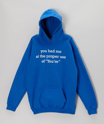 Royal Blue 'Proper Use of 'You're'' Hoodie - Kids & Adults