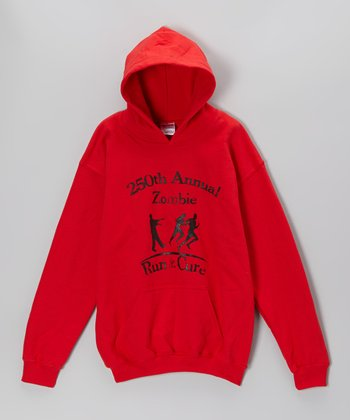 Red 'Zombie Run for the Cure' Hoodie - Kids & Adults