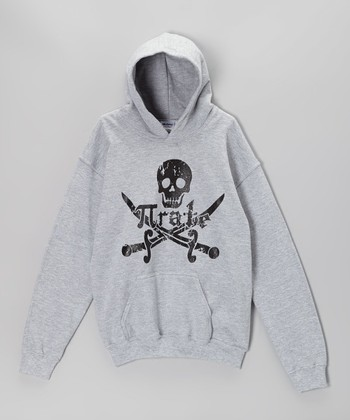 Heather Gray 'Pirate' Math Hoodie - Kids & Adults