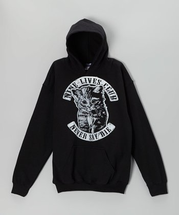 Black 'Nine Lives Club' Cat Hoodie - Kids & Adults