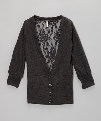 Charcoal Heather Cardigan