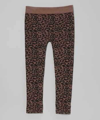 Dusty Taupe & Black Cheetah Leggings