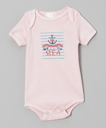 Truffles Ruffles Pink 'Little Sailor Girl' Bodysuit