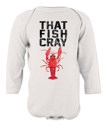 White 'Cray' Bodysuit - Infant