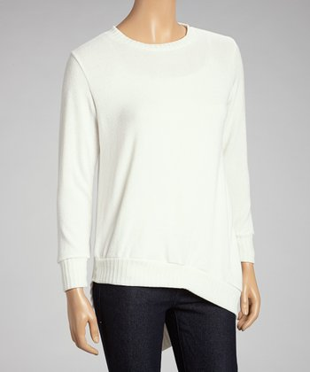 Ivory Asymmetrical Hem Hi-Low Tunic