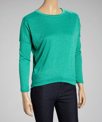 Mint Dolman Crewneck Sweater
