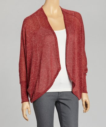 Red Dolman Open-Cardigan
