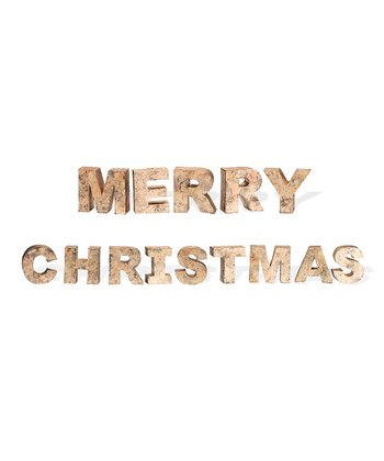 'Merry Christmas' Block Letter Set