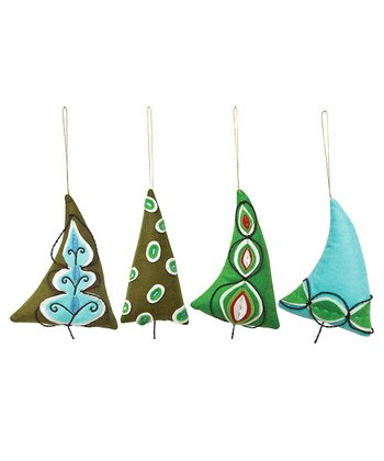 Mod Tree Ornament - Set of Four