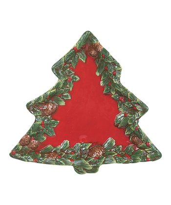 Red Holly Tree Plate