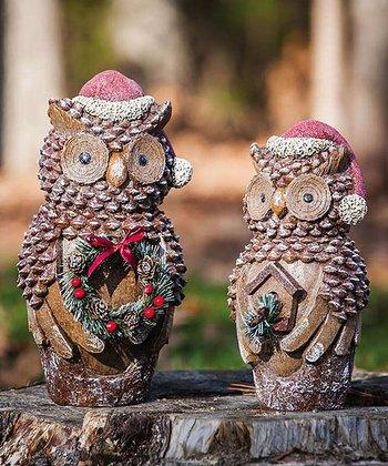 Christmas Owl Décor Set