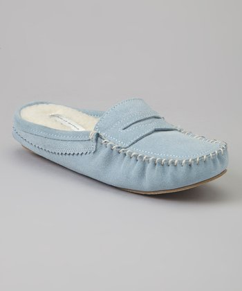 Light Blue Suede Sutton Place Slipper